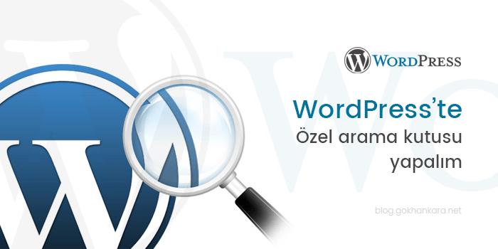 WordPress'te özel arama kutusu yapalım