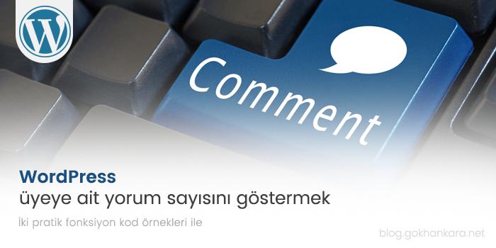 WordPress üyeye ait yorum sayısını göstermek
